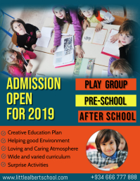 Kindergarten Admission Open Day Flyer