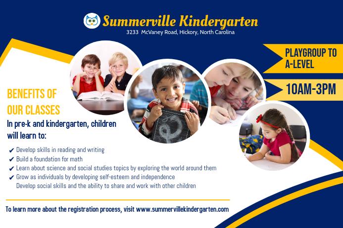 Kindergarten Admissions Poster Template