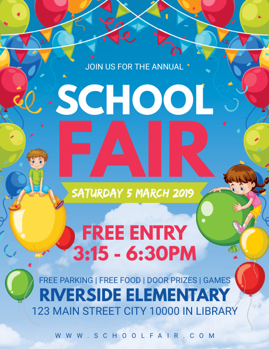 Kindergarten Fun Fair Invitation Flyer