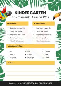 Kindergarten Lesson Planner Template