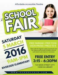 Kindergarten School Fair Flyer