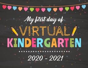 Kindergarten Sign Back To School Flyer (US Letter) template