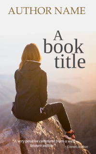 Kindle book cover art design template