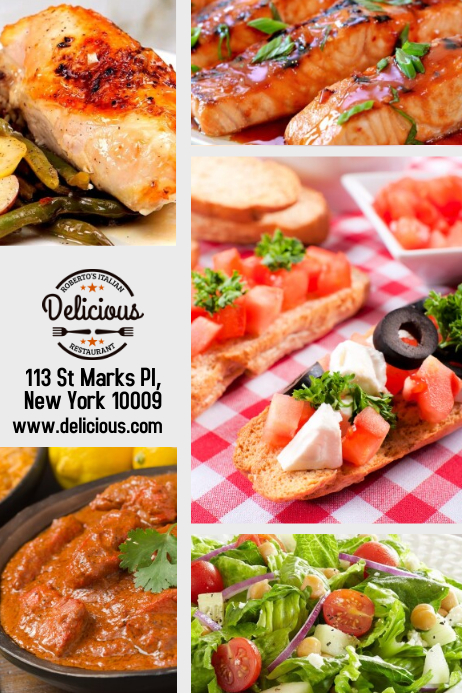 Restaurant Food Flyer Template   PosterMyWall