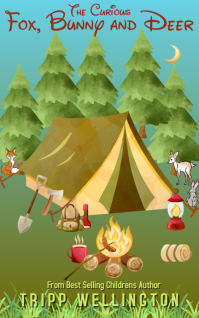 Kindle Camping and Forest Animals Children's Kindle-cover template