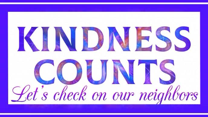 Kindness Counts Digital Display template
