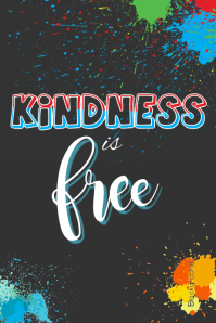 Kindness is Free Poster
