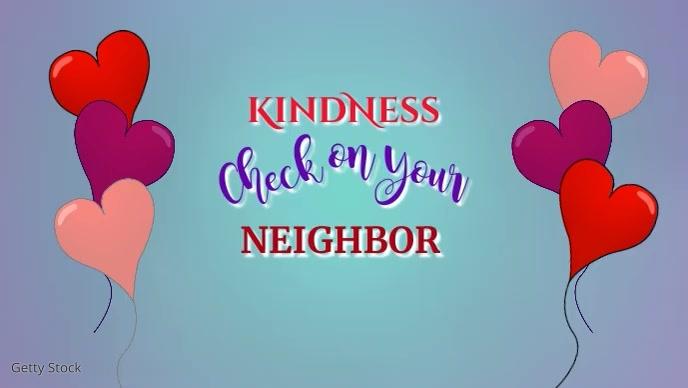 Kindness Video Facebook 封面视频 (16:9) template