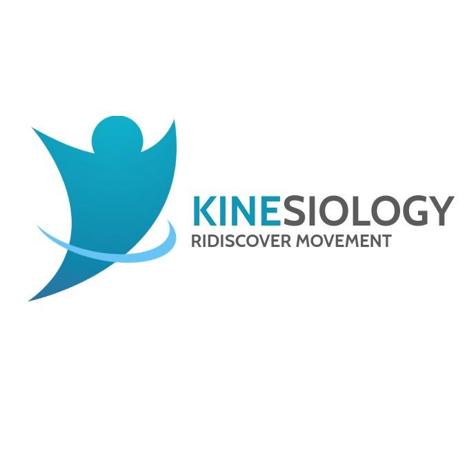 kinesiology health logo icon moving man icon Logotipo template