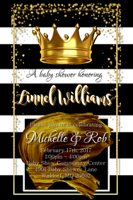 King Baby Shower Invitation