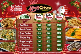 King Chow Menu Banner 4' × 6' template