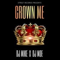 KING CROWN ALBUM MIXTAPE COVER TEMPLATE