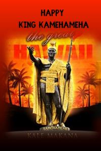king kamehameha day Плакат template