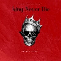 king never die mixtape cover design template