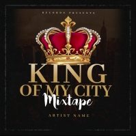 King Of My City Mixtape CD Cover Template Okładka albumu