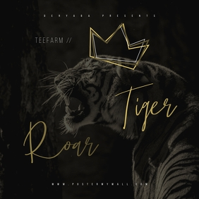 King Tiger Roar Mixtape CD Cover Art Template Albumcover