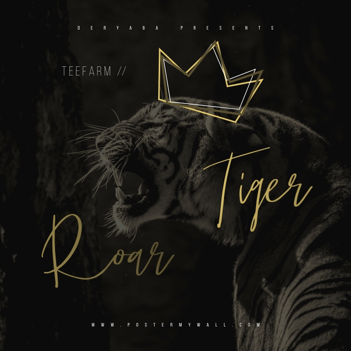 King Tiger Roar Mixtape CD Cover Art Template