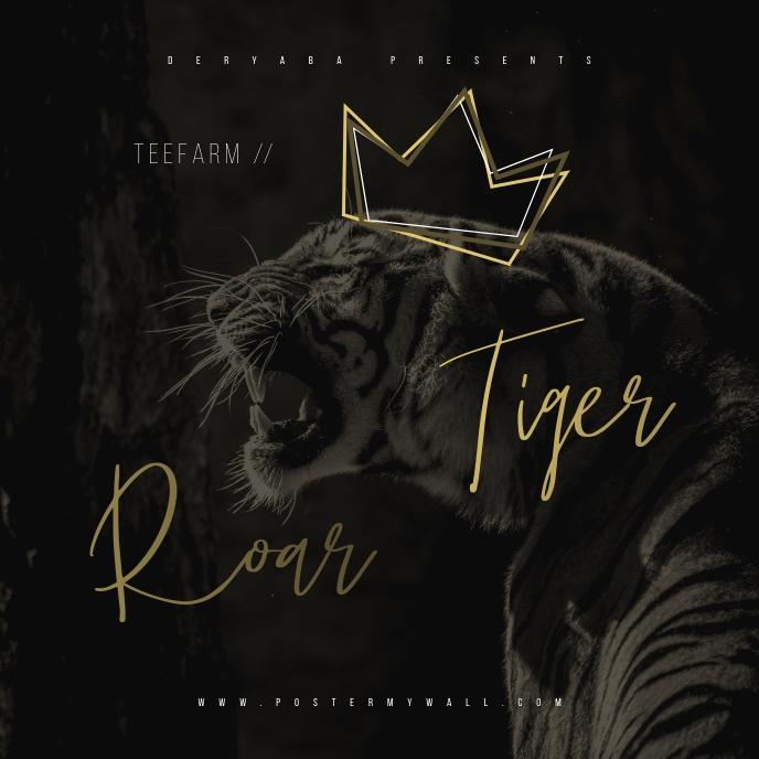 King Tiger Roar Mixtape CD Cover Art Template Portada de Álbum