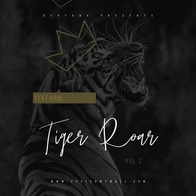 King Tiger Roar Mixtape CD Cover Art Template