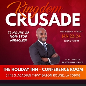 KINGDOM CRUSADE CHURCH FLYER TEMPLATE