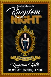 KINGDOM NIGHT FANCY GOLD FLYER TEMPLATE