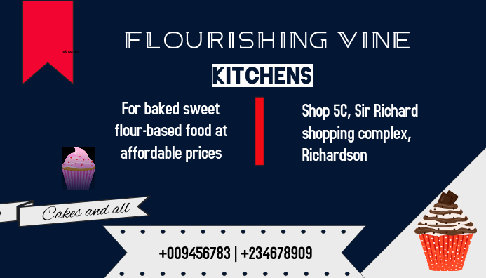 Kitchen | cake & pastry Visitekaartje template