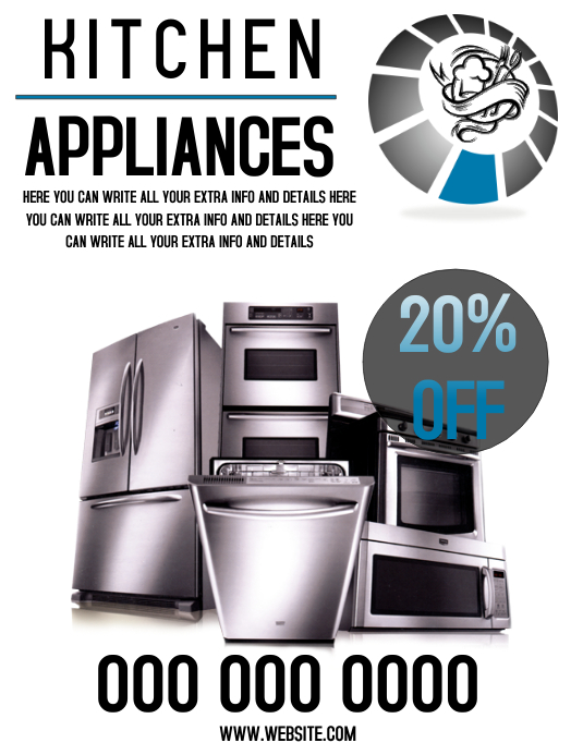 Kitchen Appliances Flyer Template Postermywall