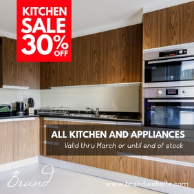 Kitchen Furniture Sale Square Ad โพสต์บน Instagram template