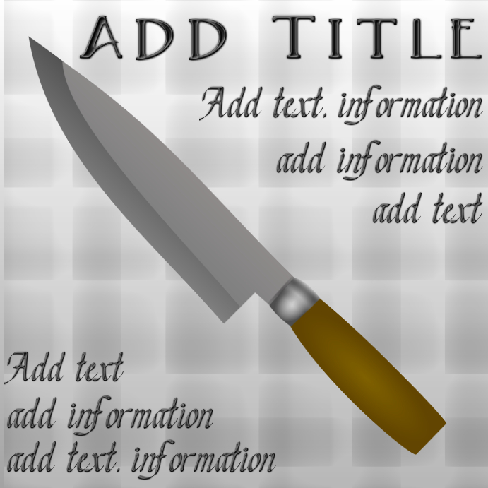 Kitchen Knife Template Postermywall