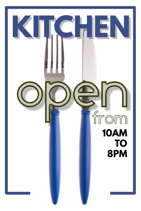 Kitchen Open Poster Template