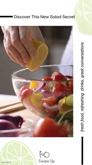 Kitchen Recipe Instagram Story DesignTemplate Instagram-verhaal