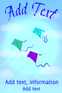 kites flying in a blue sky - playing sport and games