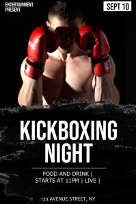 Kivkboxing night flyer template