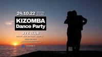 Kizomba Latin Salsa Bachata Dance Lesson Ad Facebook Cover Video (16:9) template