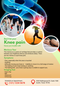 Knee Pain flyers A4 template