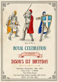 Knight birthday party invitation