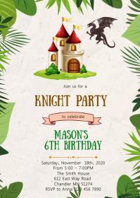 Knight birthday party invitation