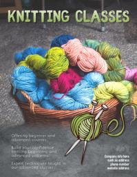 Knitting Class Instruction Flyer