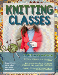 Knitting Class Instruction Flyer