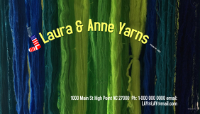 Knitting Yarns Business Cards