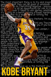 Kobe Bryant Poster template