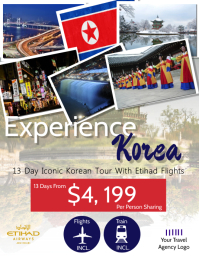 Korea Travel Flyer Template