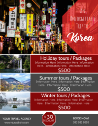 Korea Travel Poster Flyer Template