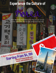 Korean Tour Travel Flyer Template
