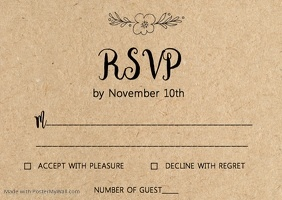 Kraft wedding RSVP card