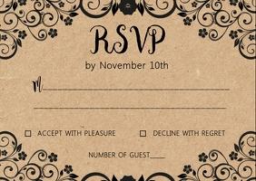 Kraft wedding RSVP card