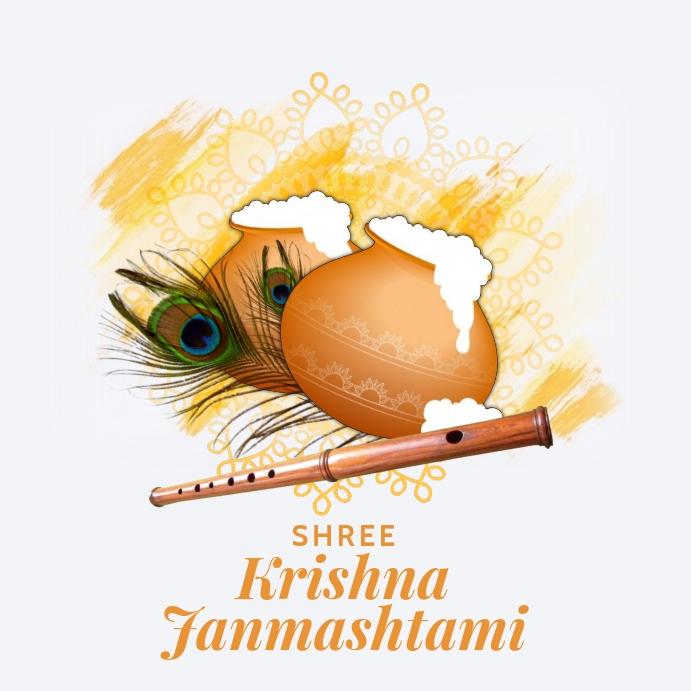 Krishna Janmashtami Greeting Template Kvadrat (1:1)