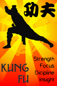 kung fu - martial art poster template
