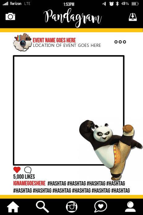 Kung Fu Panda Party Prop Frame