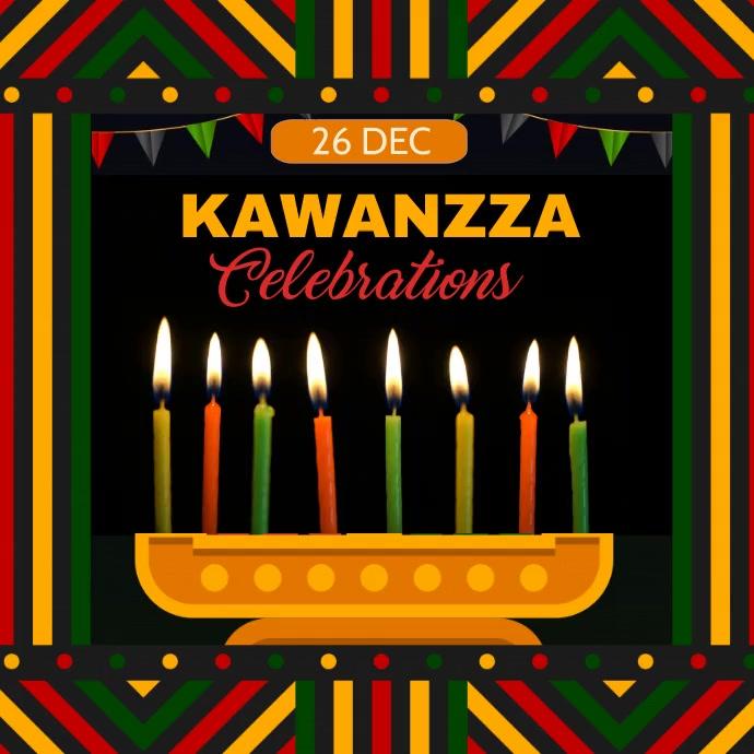Kwanza, Hanukkah, candle festival Instagram Post template